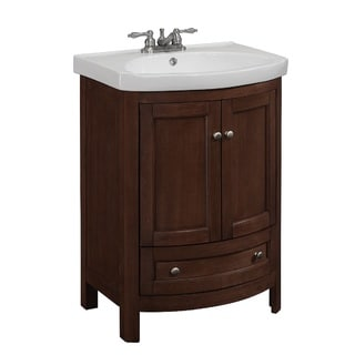 Bellina Walnut 24-inch Single Bathroom Vanity Set
