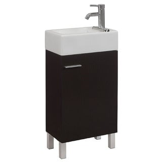 Urbana 18 Inch Single Vanity Set I By RunFine Group   Espresso