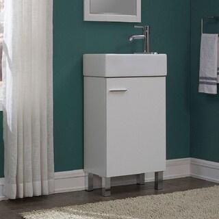 Urbana White 18-inch Single Bathroom Vanity Set