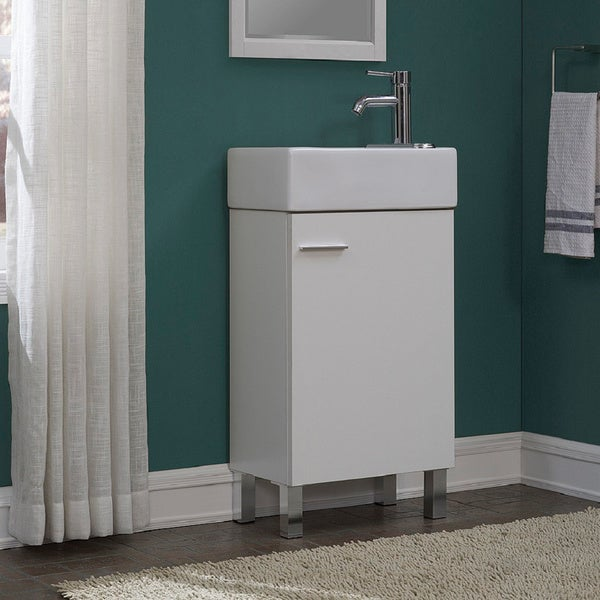 bathroom vanity set. Urbana White 18 inch Single Bathroom Vanity Set  Free Shipping