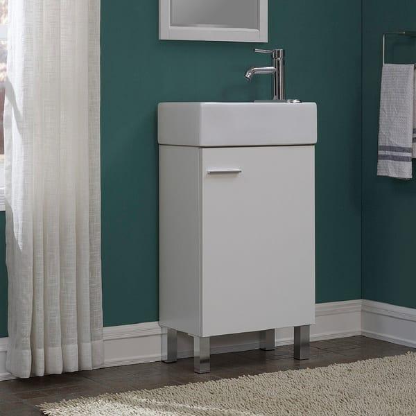 Shop Urbana White 18 Inch Single Bathroom Vanity Set Overstock 14389280,Clearest Water In The Us