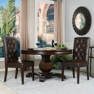 Somette Nixa Brown Tufted Dining Chair (Set of 2)