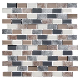 Glass (4.8 square feet per case) Mosaic Tiles