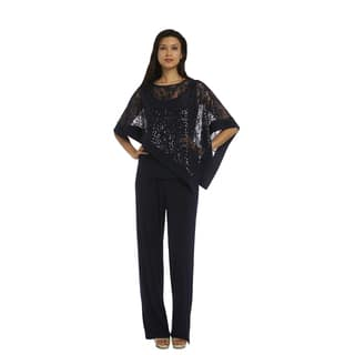 R&M Richards Poncho Pantsuit|https://ak1.ostkcdn.com/images/products/14389291/P20960767.jpg?impolicy=medium