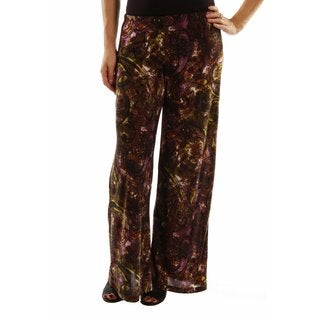 24/7 Comfort Apparel Elegance Without Effort Wide Leg Pants