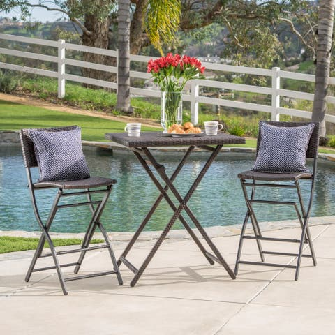 Margarita Outdoor Wicker 3-piece Bar Set by Christopher Knight Home