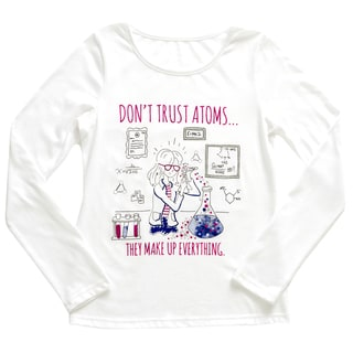 French Toast Girl's 'Scientist Girl' White Cotton Graphic Tee