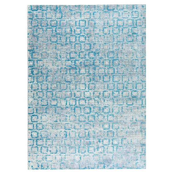 M.A.Trading Hand Woven Tampa Blue (2'x3')