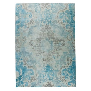 M.A.Trading Hand Woven Omaha Blue/Beige (2'x3')