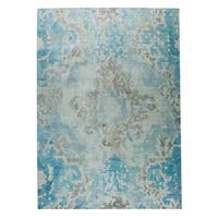 M.A.Trading Hand Woven Omaha Blue/Beige - 2' x 3'