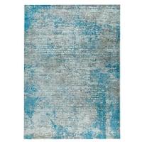 M.A.Trading Hand Woven Dallas Aqua/Blue (2'x3')
