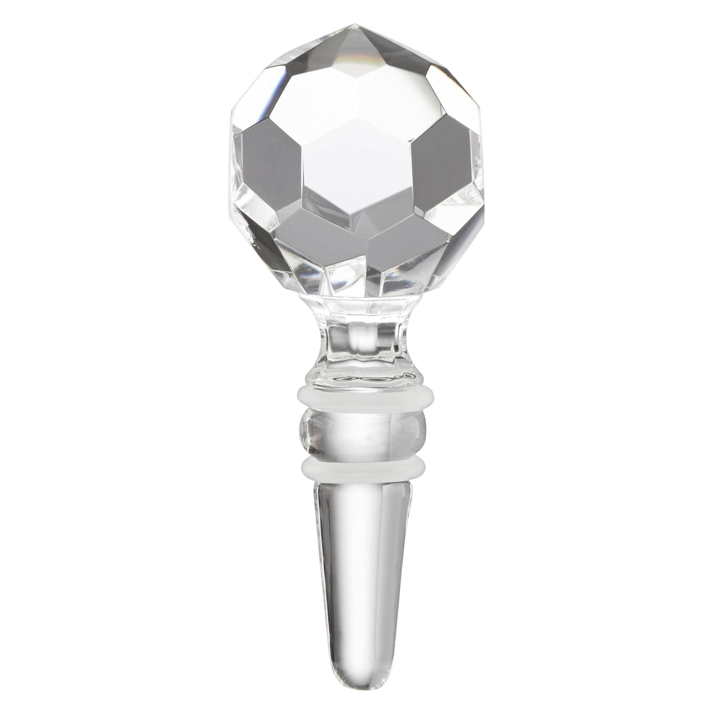 Reed & Barton Mercer Prismatic Ball Glass Bottle Stopper ...