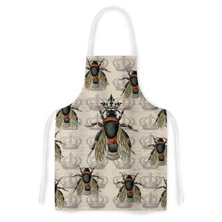 Kess InHouse Suzanne Carter 'Queen Bee' Black Tan Artistic Apron