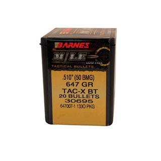 Barnes Bullets Triple-Shock X 50 BMG, 647 Grain, Hollow Point Boat Tail, Per 20