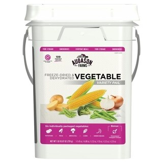 Augason Farms Freeze Dried Vegetable Variety Pack 4 Gallon Kit