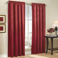 All Over Leaf Motif Jacquard Window Curtain Panel