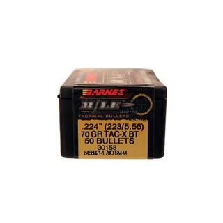 Barnes Bullets TAC-X 223/5.56 Caliber, 70 Grain,  Boat Tail, Per 50