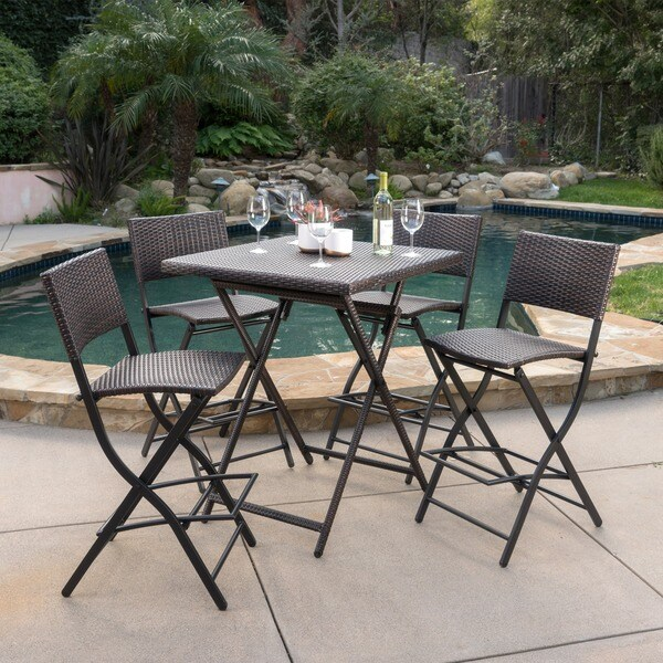Margarita Outdoor Wicker 5-piece Bar Set by Christopher Knight Home