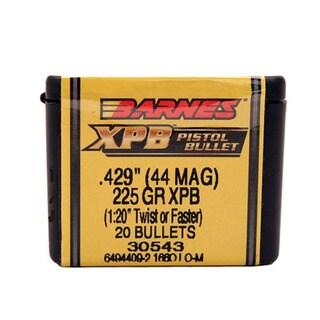 Barnes Bullets XPB 44 Caliber, 225 Grain,  Solid Copper Hollow Point, Per 20