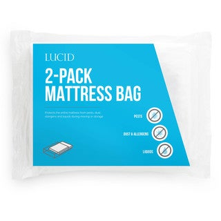 LUCID Comfort Collection Mattress Moving and Storage Bags (Pack of 2)
