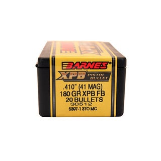 Barnes Bullets XPB 41 Magnum, 180 Grain, Solid Copper Hollow Point, Per 20