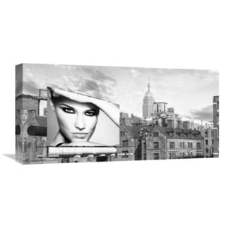 Global Gallery Lauren 'A Billboard in Manhattan' Stretched Canvas Artwork
