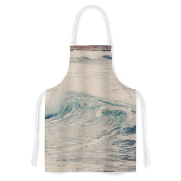 Kess InHouse Sylvia Coomes 'Waves 1' Blue Coastal Artistic Apron