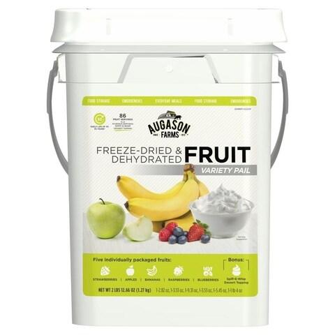 Augason Farms Freeze Dried Fruit Variety Pack 4 Gallon Kit