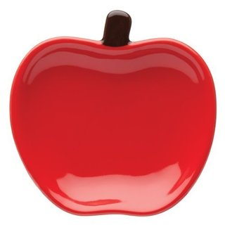 Apple Red Ceramic Tea Caddy