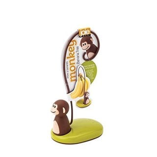 MSC International Joie Brown Plastic and Metal 5.75-inch Monkey Banana Tree Hanger