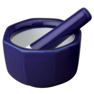 Porcelain Octaganol Mortar and Pestle 3.5-Inch