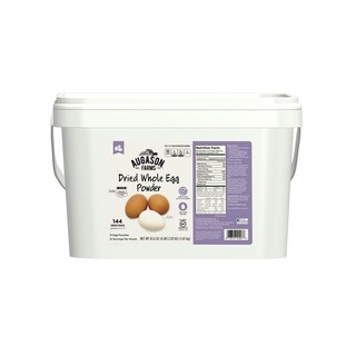Augason Farms Whole Dried Egg Powder 65. 6 oz 12-Pouch 2G Pail
