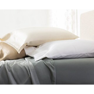 Linenspa 600 Thread Count Cotton Blend Pillowcases (Set of 2)