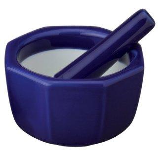 Blue Porcelain 4.5-inch Octaganol Mortar and Pestle