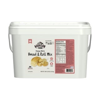 Augason Farms Honey White Bread & Roll Mix 12-Pouch Pail