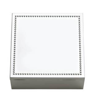 Reed & Barton Lyndon Silvertoned Metal Square Box