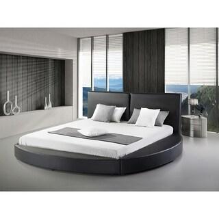 Greatime B1159 Queen Black Modern Round Bed