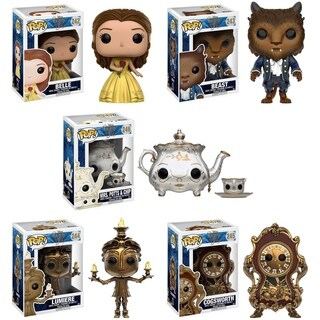 Funko Pop Disney's Beauty and the Beast Vinyl 3.75-inch Figures (Pack of 5)