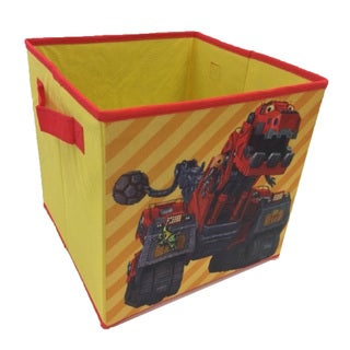 Dinotrux Yellow/Red Collapsible Storage Cubes (Set of 4)