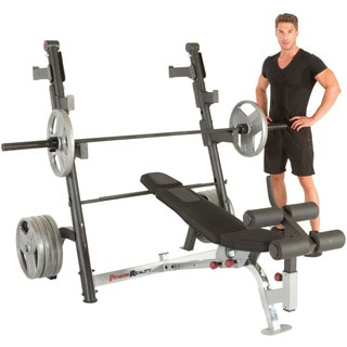 FITNESS REALITY X-Class Olympic Weight Bench with Detachable Leg Hold-Down