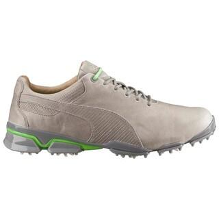 PUMA Titantour Ignite Premium Golf Shoes Drizzle/Green Gecko