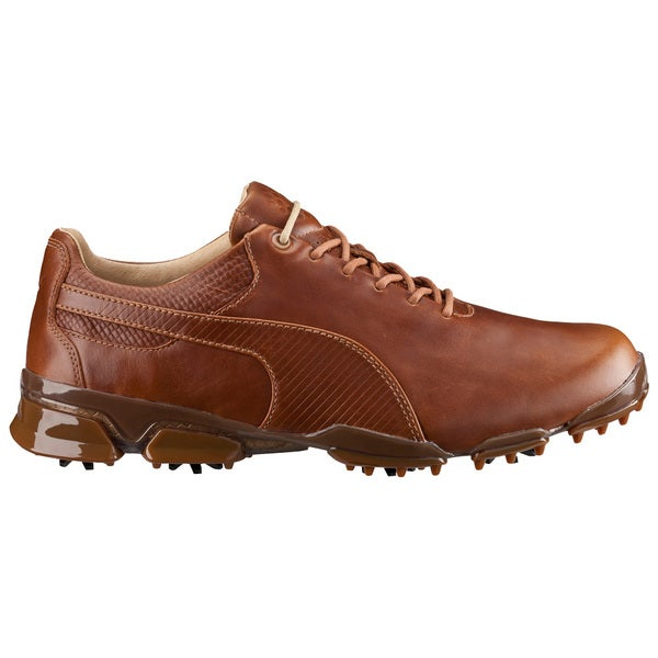 PUMA Titantour Ignite Premium Golf Shoes Monk's Robe/Team Gold