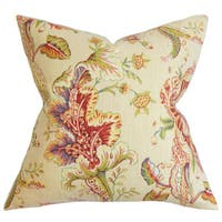 Eluned Floral 22-inch Down Feather Throw Pillow Multi