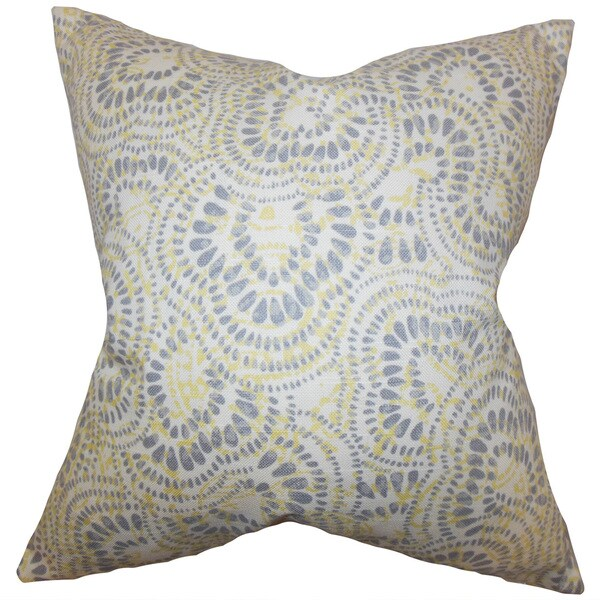 Glynis Floral 22-inch Down Feather Throw Pillow Jonquil