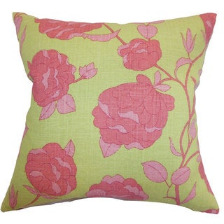 """Lalomalava Floral 22"""" x 22"""" Down Feather Throw Pillow Blossom"""