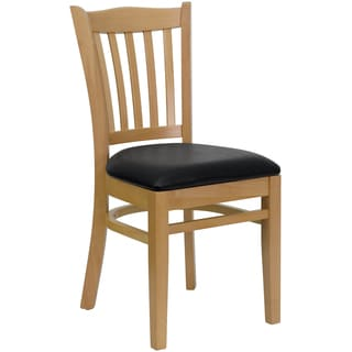 Riverdale Natural Wood Black Upholstered Classic Dining Chairs