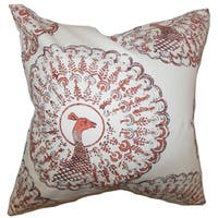 Ieesha Animal Print 22-inch Down Feather Throw Pillow Coral