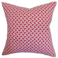 Zlin Geometric 22-inch Down Feather Throw Pillow Raspberry
