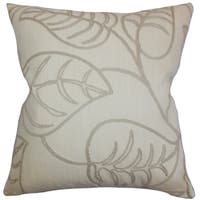 Fabrizia Floral 22-inch Down Feather Throw Pillow Linen