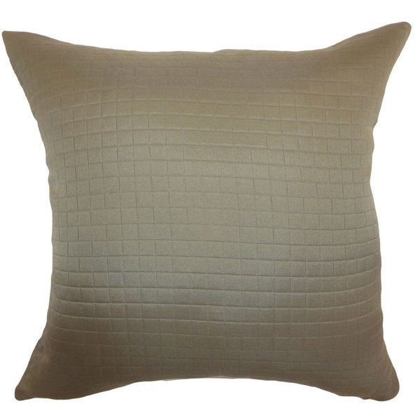 Maertisa Quilted 22-inch Down Feather Throw Pillow Espresso